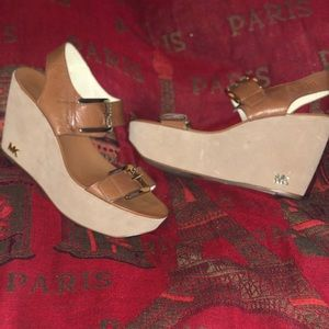 Michael Kors Wedge Sandals.  Size 8.5